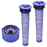 2x pré filtro + 1x hepa pós filtro kit para dyson v6 sem fio vara vácuo  dyson filtro substituições pré filtro (965661 01) a Peças p/ aspirador de pó    -