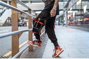 Image 2 - 2019 Dropshipping Big Pocket Ribbon Workwear Pants Brand Design Harajuku Harem Pants High Quality Cargo Tactical Pants