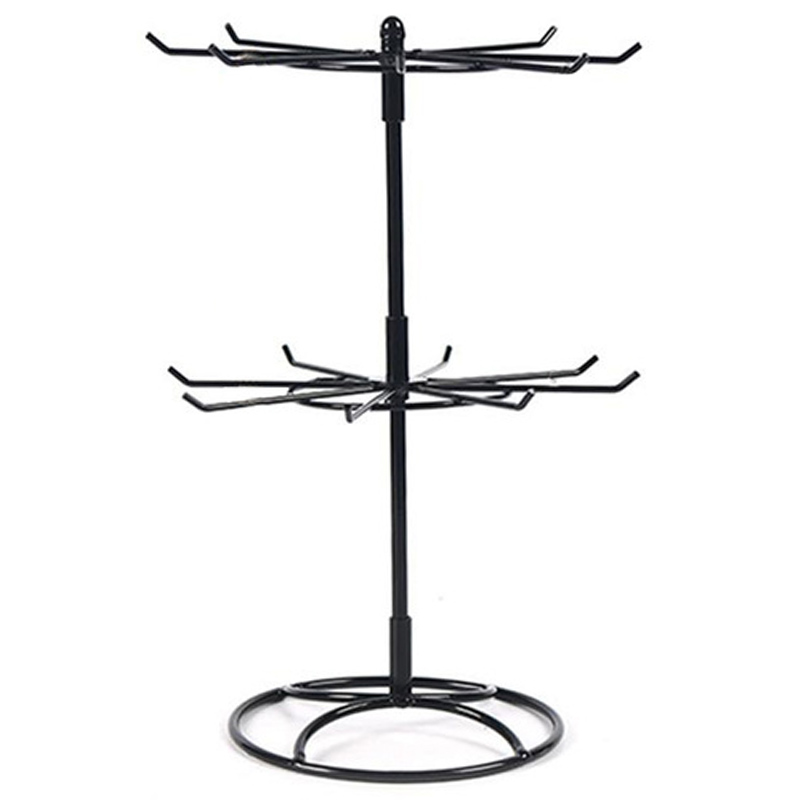 Double Metal Jewelry Frame Earrings Necklace Bracelet Display Stand