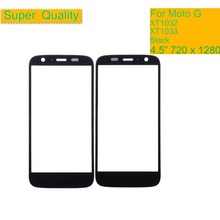 10Pcs/lot Super Quality For Motorola Moto G XT1032 XT1033 G1 Touch Screen Front Outer Glass Panel Lens NO LCD Display Digitizer
