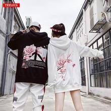 Модные зимние мужские и женские толстовки с принтом вишни, толстовки в стиле хип хоп, Свободный пуловер в стиле Харадзюку