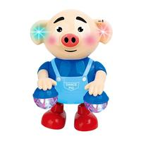 Cartoon Electronic Shaking Animal Pig Toy Interactive Music Projection Kids Gift Home School Playground350g Blue