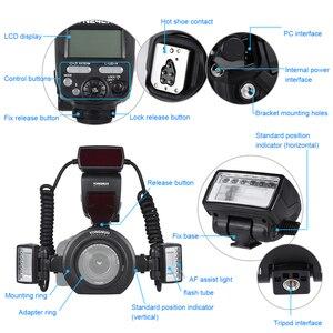 Image 4 - Yongnuo YN24EX E TTL Macro Flash Speedlite for Canon EOS 1Dx 5D3 6D 7D 70D 80D Cameras with 2pcs Flash Head + 4pcs Adapter Rings