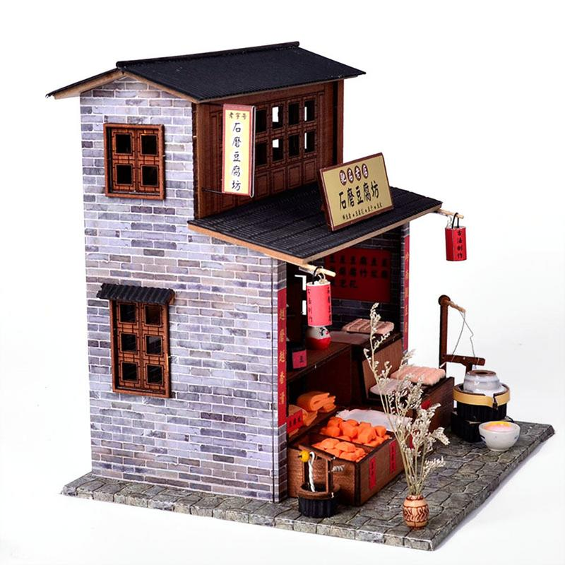 DIY Cabin Chinese Tofu Shop House Chinese Classical Culture Warm Cottage DIY Construction Building Toy Gift For FriendDIY Cabin Chinese Tofu Shop House Chinese Classical Culture Warm Cottage DIY Construction Building Toy Gift For Friend