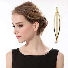 4pcs/set Fashion Women Girls Irregular Hair Clips Pearl Hairpins Styling Tool Accessories Snap Barrette Stick Hairgrip Gift