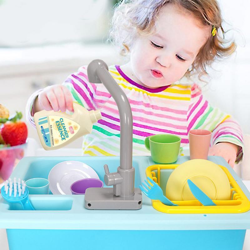 Simulation cuisine jouet enfants jouer maison petite piscine Puzzle évier vaisselle ensemble pour garçons filles