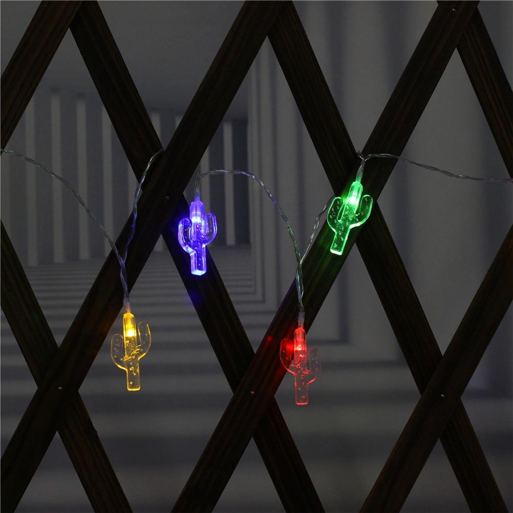 Fairy Lightsfairy LightsCactus String Light 1.5M-10M,10L/20L/40L/96L,3AA/31V US/EU Room Weding Party Wall Window Home Decoration Children Night Lamp