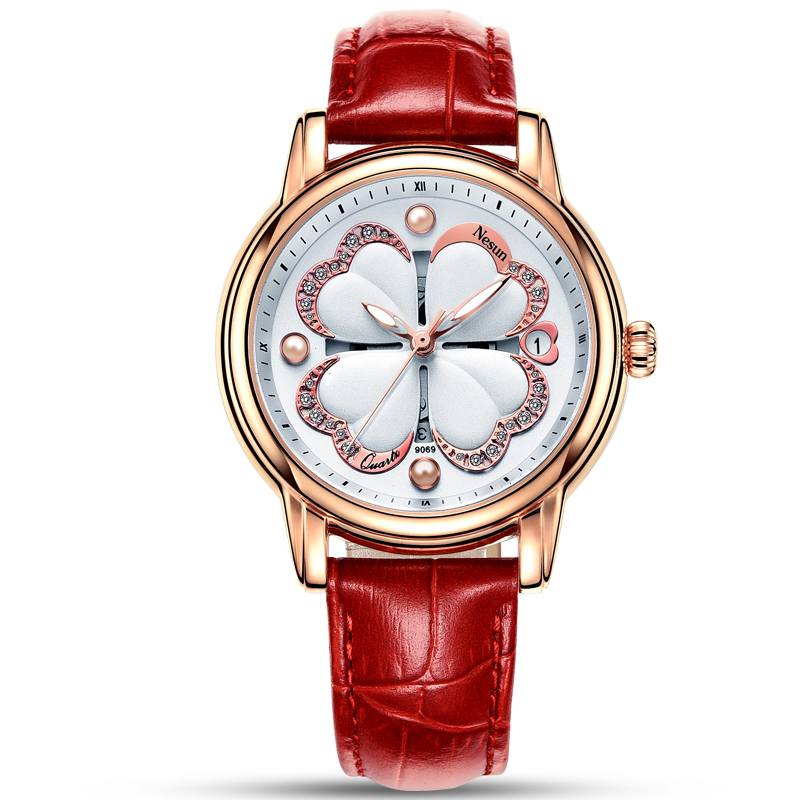 Switzerland Nesun Womens Watches Luxury Brand Quartz Watch Women Pearl Relogio Feminino reloj mujer Wristwatches N9069-1Switzerland Nesun Womens Watches Luxury Brand Quartz Watch Women Pearl Relogio Feminino reloj mujer Wristwatches N9069-1