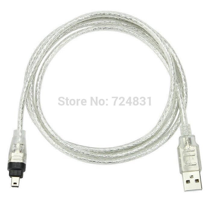 Jimier  USB Male To Firewire IEEE 1394 4 Pin Male ILink Adapter Cord Cable For SONY DCR-TRV75E DV