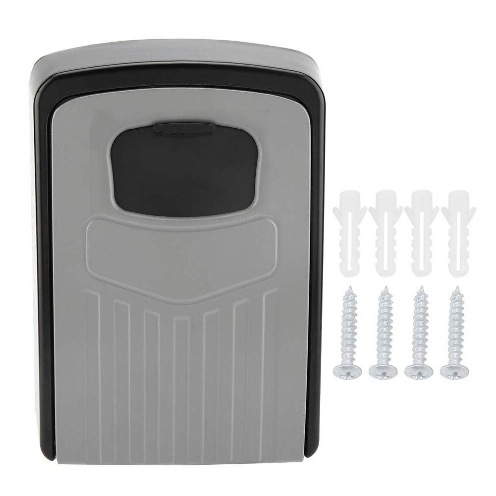 MOOL Key Box 4-Digit Adjustable Combination Password Key Box Premium Security Lock Organizer Wall-Mounted Key Storage Lock Box
