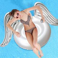 Adult Super Large Swimming Air Mattress Flamingo Swan Shape Water Inflatable Angel Wings Net Seat Inflatable Floating Row