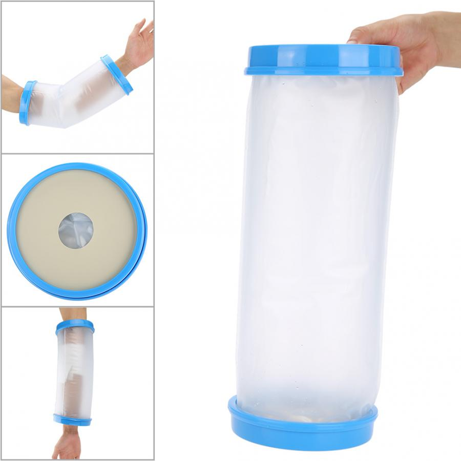 Home Elbow Protector Waterproof Cast Bandage Protector Wound Fracture Hand Elbow Cover For Adult Shower Hand Elbow Care Tool Braces