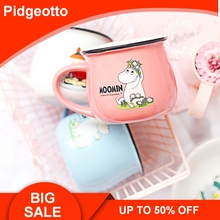 Pink Cartoon Hippo Moomin Ceramic Big Belly Cup Lovely Fairy Mumin Mink Cups and Mugs For Water Children's Gift Free Shipping plastic cartoon stool for kids and adult lovely thick chair small and big available free shipping d01