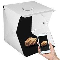 17 Inches Portable Photography Photo Studio, Upgraded Version Led Light Portable Mini Photo Light Box Studio With 2Pcs Led Lig