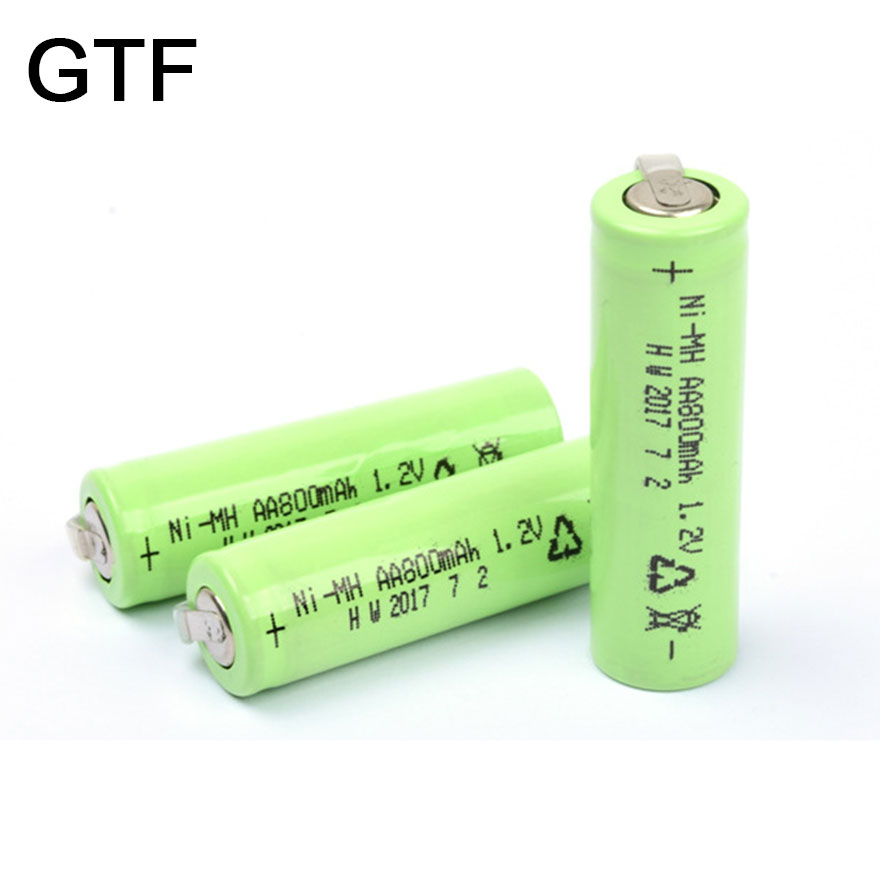 GTF 1-20Pcs 1.2V 800mAh Ni-MH AA Rechargeable Battery 2A Batteries for outdoor Gutter Garden Outdoor Lawn Fence Wall LED