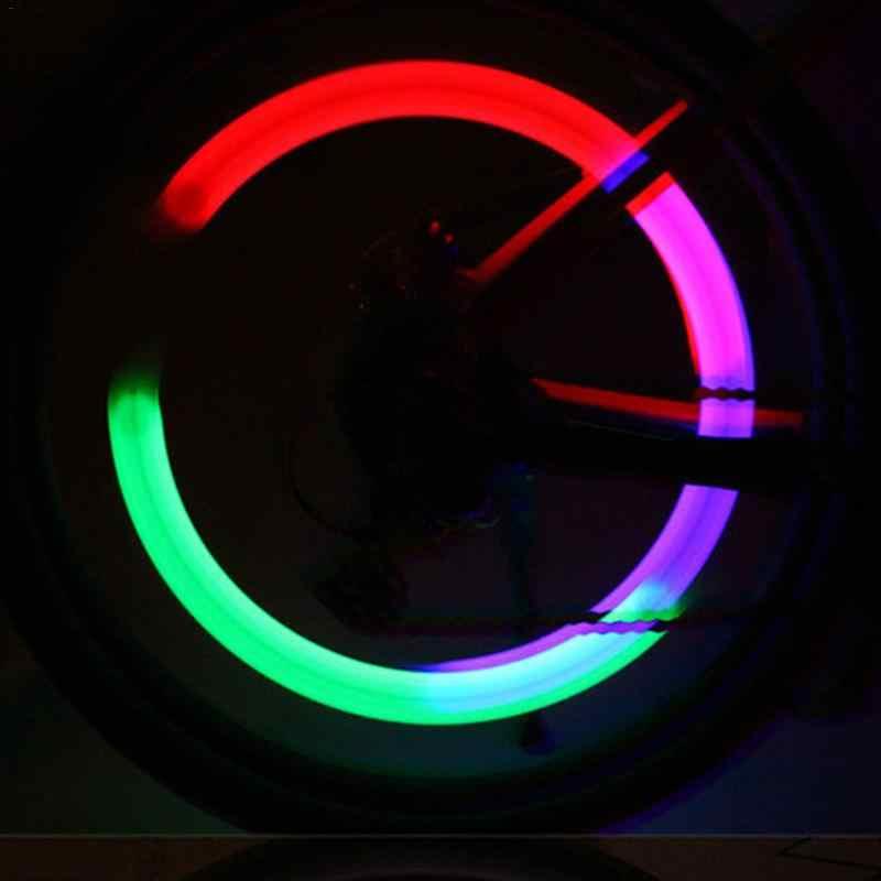 Светодиодные велосипедные фонари колеса шины Предупреждение Светлячок освещение спортивный велосипед аксессуар Прохладный Красочные Mtb дорожные велосипедные фонари