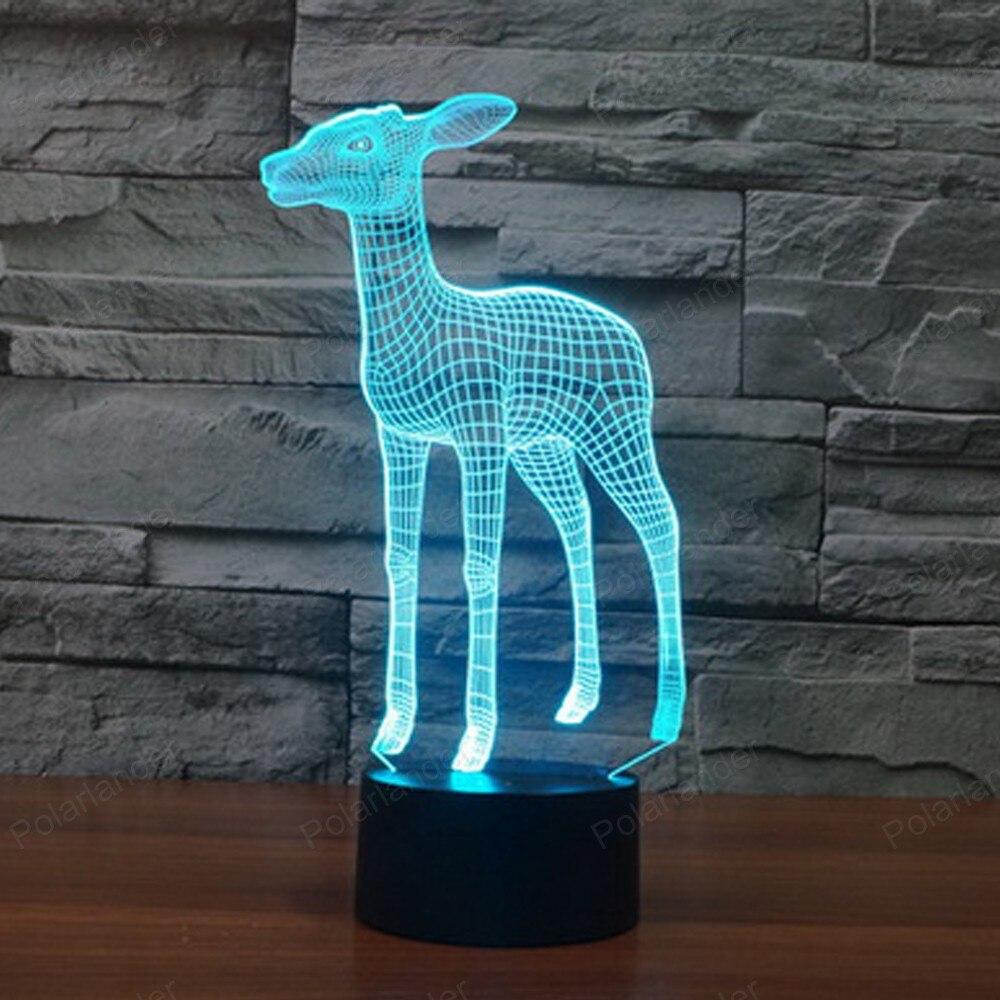 Agressief Visuele Verlichting Geschenken Versierd Sfeer Tafellamp 3d Lichten Nieuwe Herten 3d Verlichting 7 Kleuren Veranderende Touch Led Lamp Esthetisch Uiterlijk