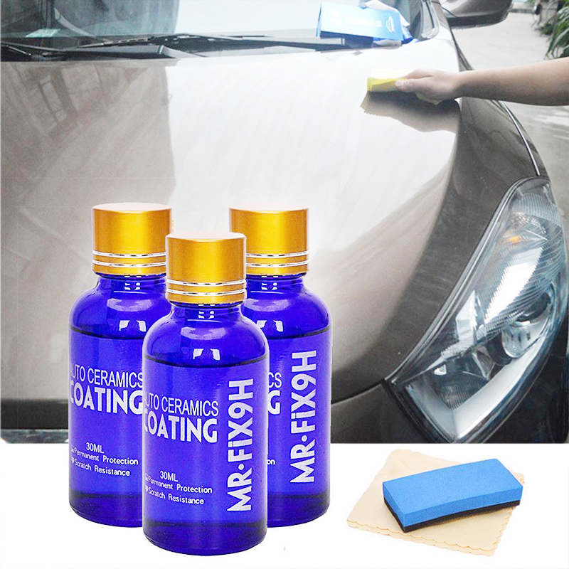 Image 3 - 1/2/3pcs 9H Nano Ceramic Car Glass Coating Liquid Hydrophobic Anti Scratch Auto Care accessories parts for cars body-in Paint Protective Foil from Automobiles & Motorcycles