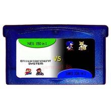 Игровая карта памяти для GBA игры 150 в 1 NES+ 106 в 1 SMS для Gameboy Advance Multicart коллекция