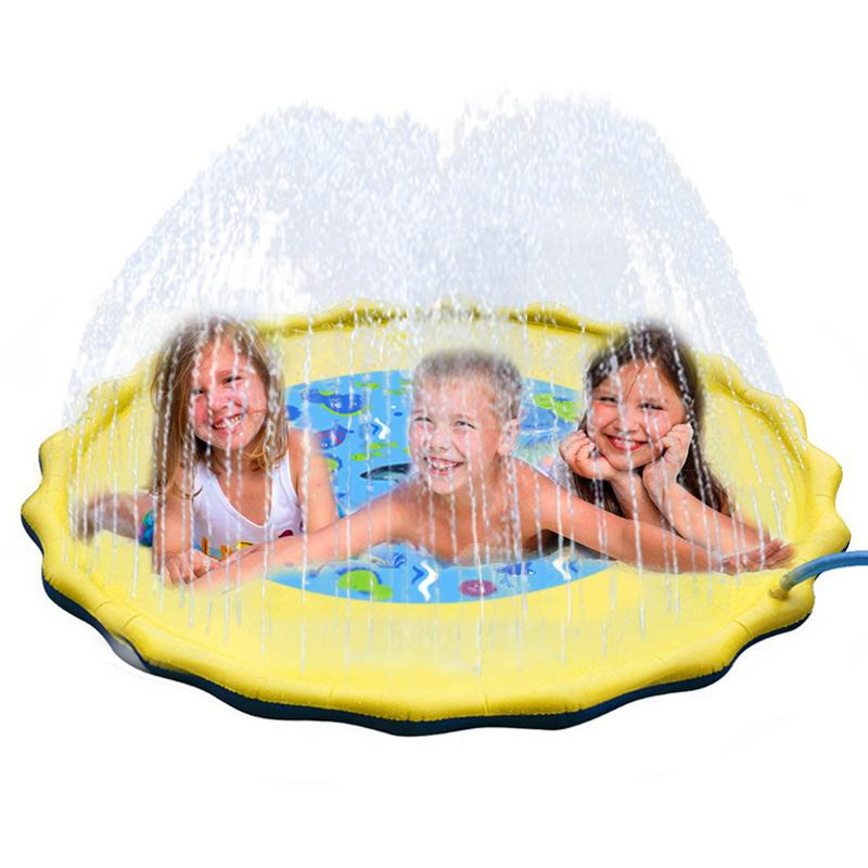 2019 NEW Water Sprinkler Spray Mat Children's Lawn Play Mat PVC Inflatable Water Spray Toy for Baby Outdoor Beach Fun Activity