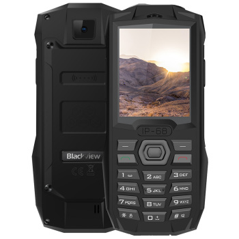 Blackview BV1000 2G Feature Phone 2.4 Inch MT6261 260MHz 32MB ROM 0.3MP Rear Camera IP68 3000mAh Built-In feature phone