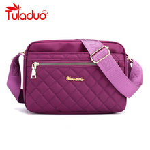 Nylon Small Women Crossbody Bags Waterproof Shoulder Bag Satchels Cell Phone Wallet Purse for Ladies Hand
