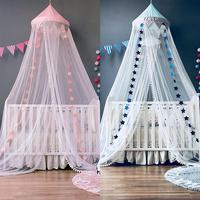 Baby Bed Canopy Curtain Around Dome Mosquito Net Crib Netting Hanging Tent for Children Baby Room Decoration Photography