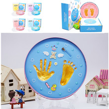 Baby Non-Toxic Newborn Hand And Foot Print Imprint Kit Souvenirs Casting Parent-child Inkpad Water Mark Infant Toys For Kid