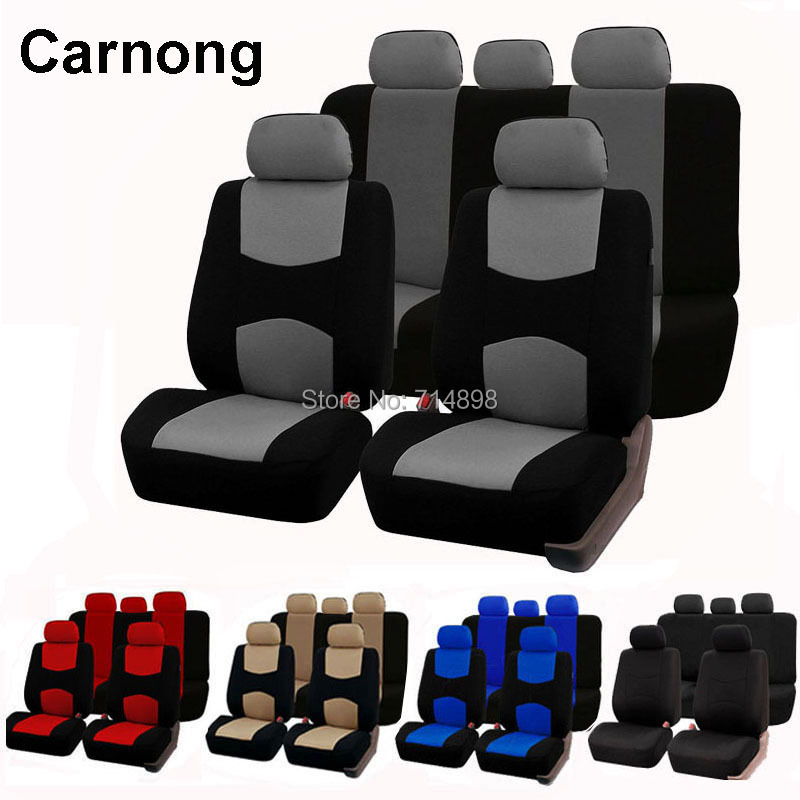 Carnong Car Seat Cover Universal front car seat cover protector full set car seat cover interior
