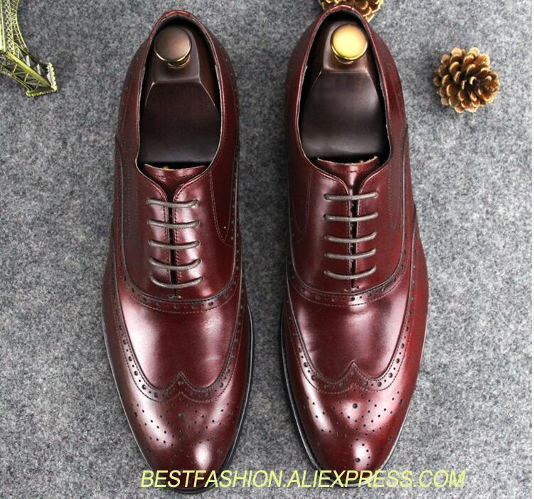 Boda Hombres Transpirable As Tacón Formal Bajo Los Cuero Negocios Encaje Shown Novio Genuino Zapatos red Vestido Tallado Punta De w57Rqant
