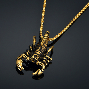 Punk Rock Scorpio Necklace Jewelry Pendant Zodiac(China)