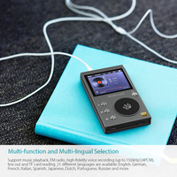 Dodocool 8GB Hi Fi Music Player High Resolution Audio Digital Lossless Sound MP3 Player with Voice Recorder and FM Radio
