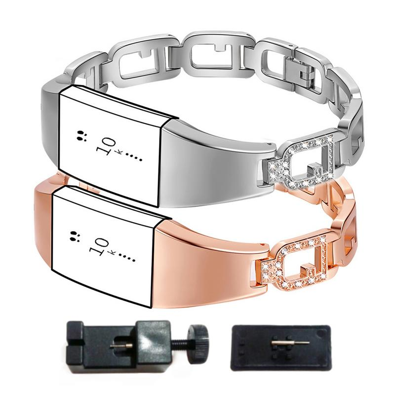 Image 3 - Zinc Alloy Watchband Smart Watch Bracelet Durable Scratch Resistant Adjustable Wristband Bracelet With Diamond Large Ring Strap-in Smart Watches from Consumer Electronics