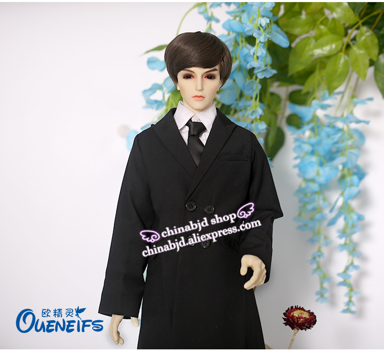 BJD SD Doll Clothes 1 3 Man Gentleman Shirt Waistcoat Tie Trousers Overcoat For Iplehouse Supergem