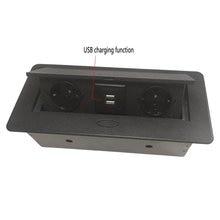 Горячая Распродажа Pop-up socket/EU стандартная настольная розетка/Скрытая/Демпфирование открытая/для офисов, конференц-залов USB зарядка Настольная розетка