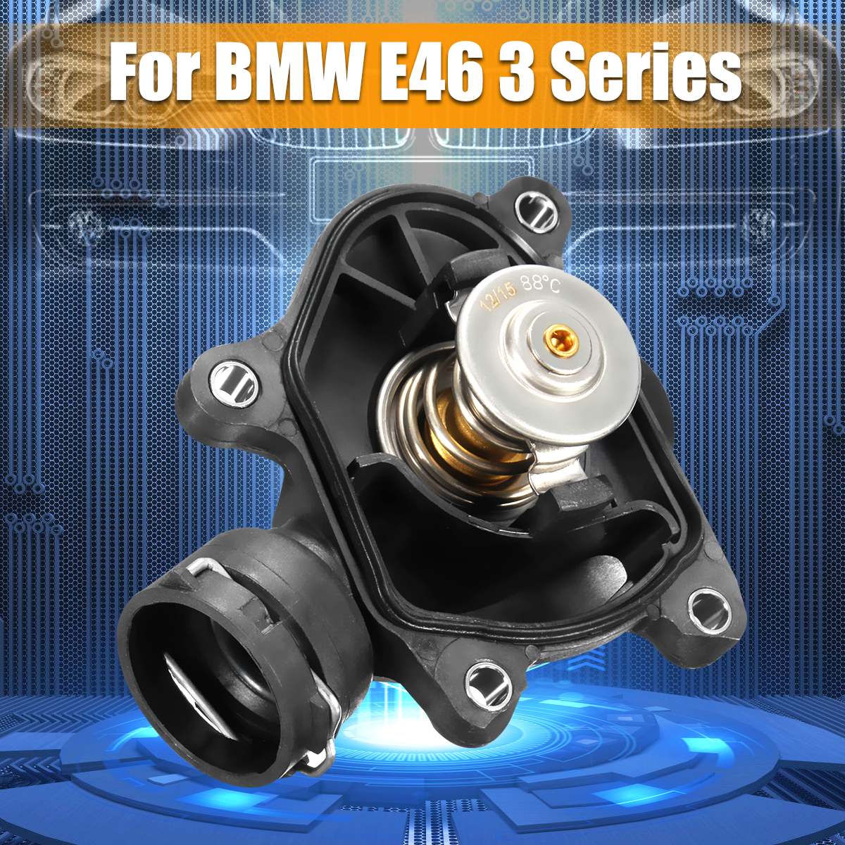 السيارات سيارة ترموستات + الإسكان ل BMW E46 E60 E61 X5 1 3 5 6 7 سلسلة 2003-2016 11517787113