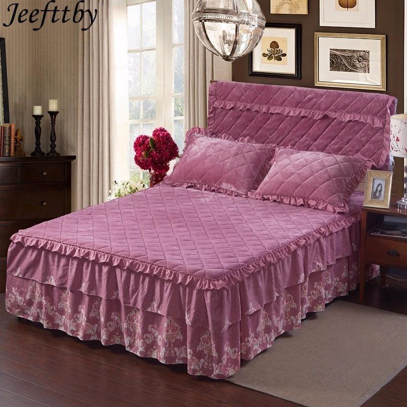 Jeefttby Korean Style Bedding Set 1pcs Thick Fleece Warm Winter Bedcover King Queen Twin Size Duvet