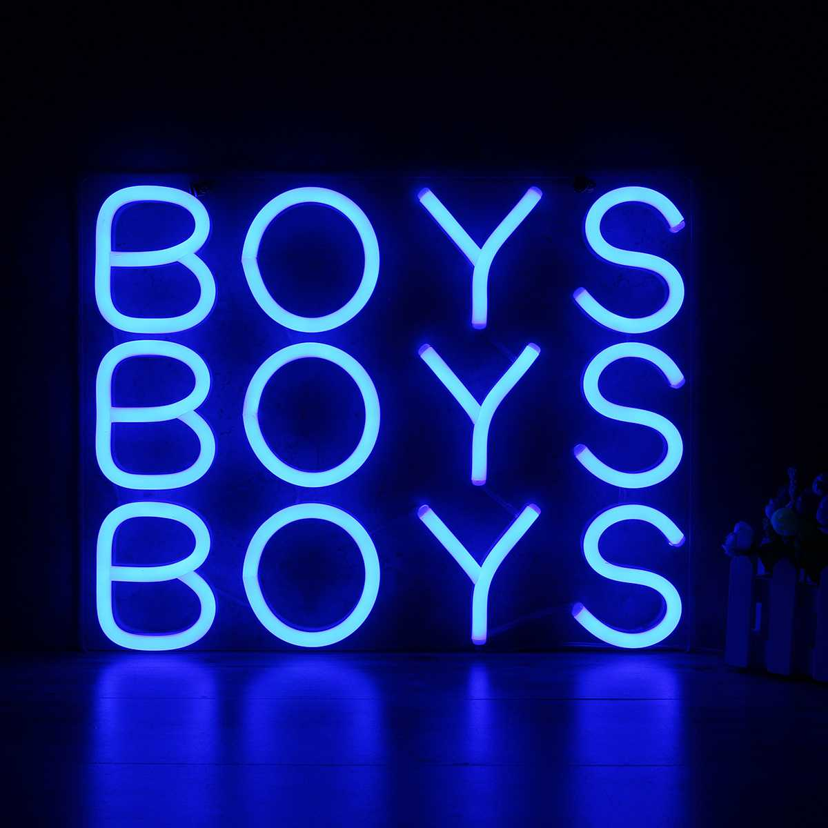 BOYS Neon Sign Light Beer Bar Pub Party Decoration Home Room Wall Ornaments Gifts 25x25cm US Plug 10''x10''