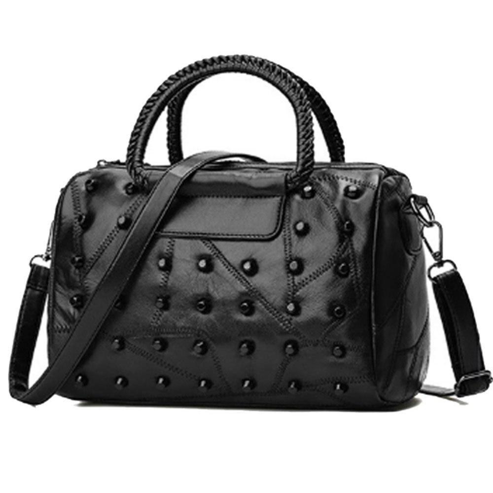 Womens Handbags Purses Totes Top Studded Handle Bags,BlackWomens Handbags Purses Totes Top Studded Handle Bags,Black