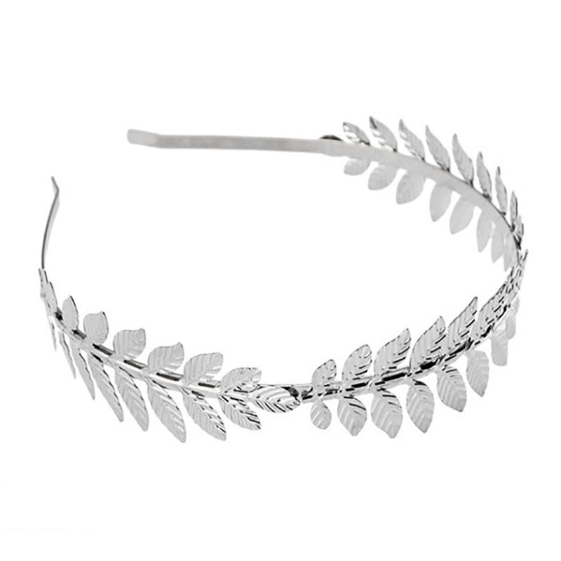 2pcs New Fashion Metal Leaves Hairband Headpiece Crown Tiaras With Forehead Jewelry Bridal Wedding Hair Accessories Supplies in Women 39 s Hair Accessories from Apparel Accessories