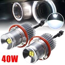 1 Pair 40W LED 12-30V Angel Eyes Marker Light Bulb Halo Ring Error Free Lights For BMW E39 E60 E63 E65 E83 E53
