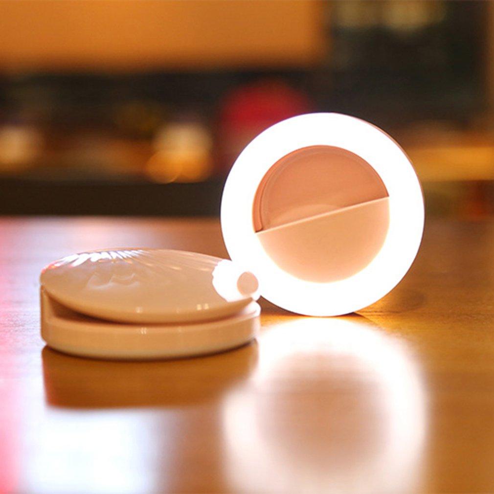 Portable Live Broadcast Fill Light Selfie Light Flash Lighting Adjustsble 3 Levels Brightness Makeup Beauty Light