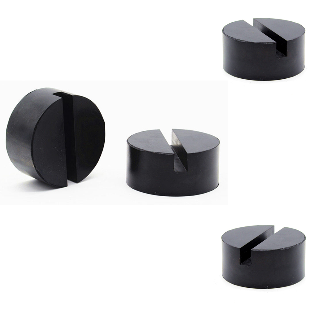 Image 4 - NEW Jacking Pad Vehicle Universal Floor Jack Disk Pad Adapter Rubber Blanket for Pinch Weld Side Rail Stand Black Round Shape