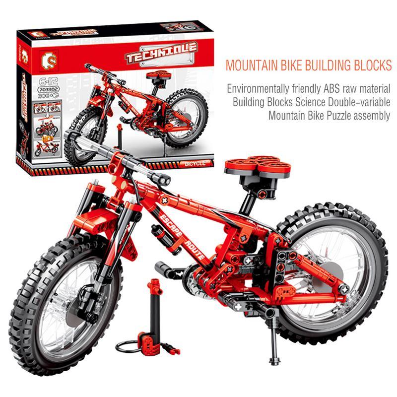 Ausdrucksvoll 3d Berg Fahrrad Mountainbike Bausteine Sets Kits Bricks Classic Modell Kinder Spielzeug Kompatibel Für Legoings Weder Zu Hart Noch Zu Weich Sammeln & Seltenes