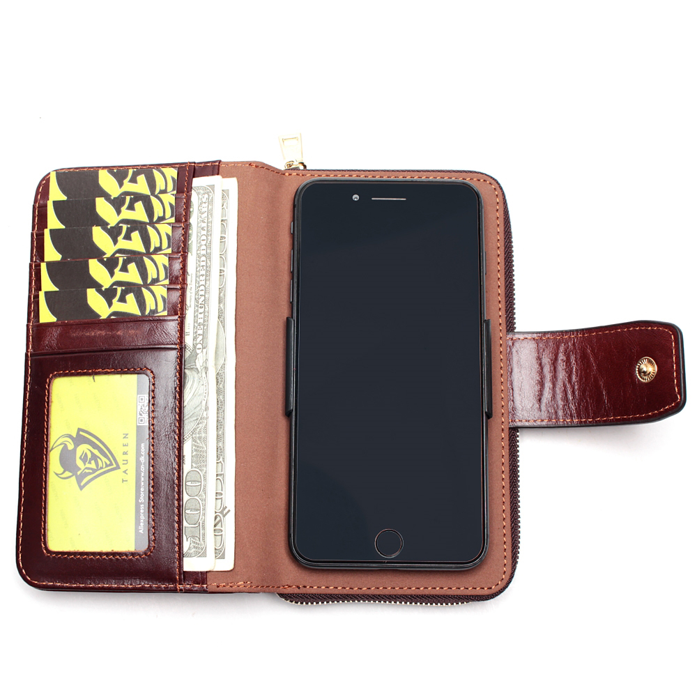 Image 2 - Business Clutch Bag Detachable Wristband Men Wallet Slidable 