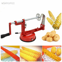 Twister Potato Slicer Stainless Steel Potato Manual Cutter Spiral Chips Twisted Potato Apple Slicer French Fry Cutter