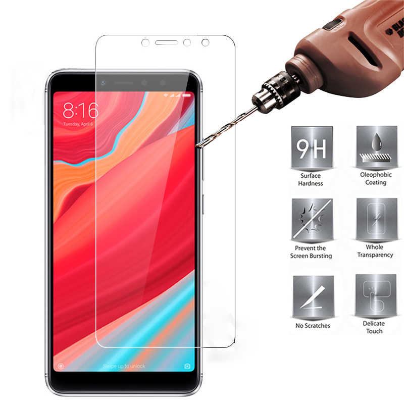 Tempered Glass for Xiaomi Mi 6X Mi 8 Lite pro 8SE Pocophone F1 for Mi Mix 2S Explosion-proof Protective Film Screen Protector