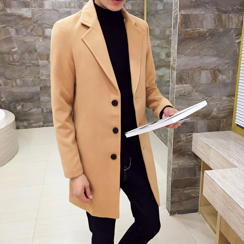 Brand Autumn And Winter Men's Jackets Long Suit Windbreaker Overcoat For Male Jacket Outer Wear Clothing Garment