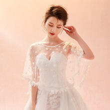 Spring and summer in Europe the United States thin bride wedding accessories star lace shawl