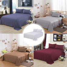 Cotton Solid Color Bed Sheets Polyester Double Sheet Pillowcase Household Products Linings